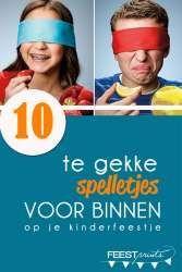 Ongebruikt 10 te gekke binnenspelletjes voor je kinderfeestje | Kinderfeestje CR-03