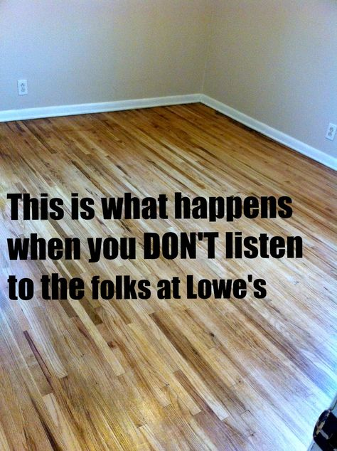 Hardwood Floor Refinish DIY