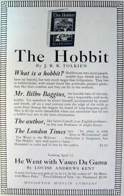 The Horn Book Magazine Hobbit Advertisment What I A Tolkien Books Essay On