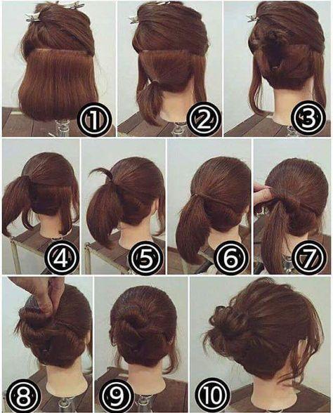 55 Easy Updos To Look Effortlessly Chic Short Hair Makeup Hair Styles Hair Updos Tutorials