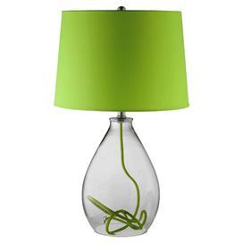 Clear Gl Lamp With A Green Interior