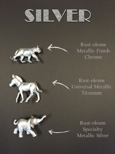There are lots of silver and gold spray paints,... | Design Meet Style