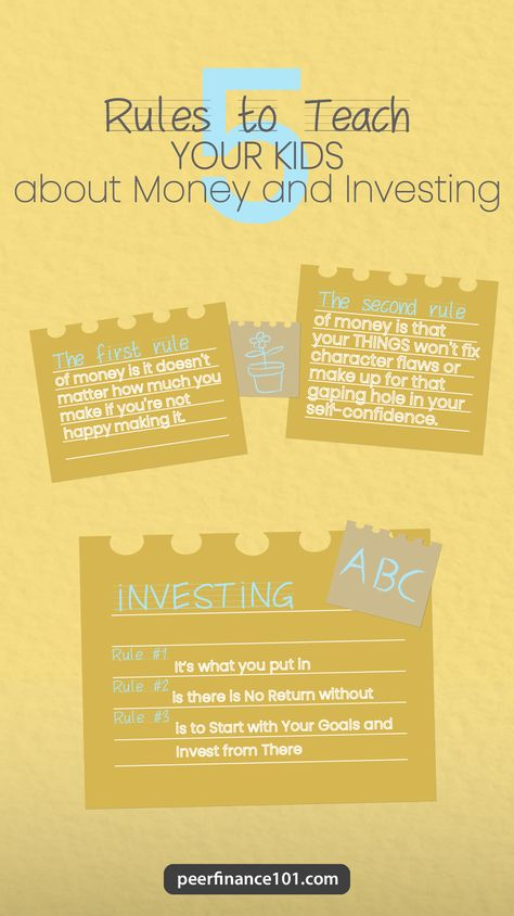 5 Rules to Teach Your Kids About Money