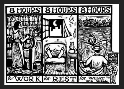 8 Hours For What We Will 8 Hour Work Day International Workers