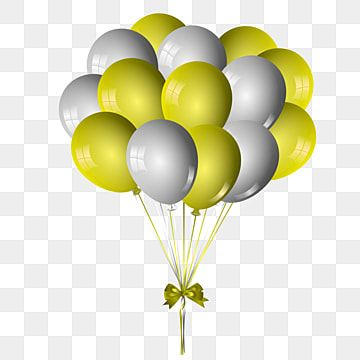 Beautiful Gold Balloons To Happy Day Ribbon Bow Bows Bow Tie Png And Vector With Transparent Background For Free Download Gold Balloons Silver Balloon Balloons