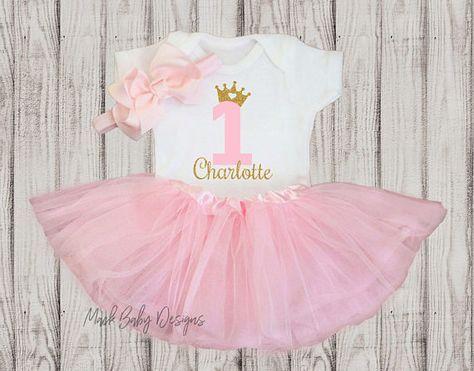 Personalisierte 1 Geburtstag Madchen Outfit Baby Girl 1 Erster