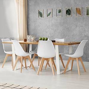 Idmarket Lot De 6 Chaises Sara Blanches Pour Salle A Manger En 2020 Salle A Manger Design Chaises Blanches Chaise Salle A Manger