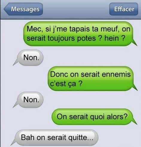 Sms Comiques Pour Envoyer Un Texto Rigolo A Une Personne Funny Texts Jokes Funny Texts Funny Facts