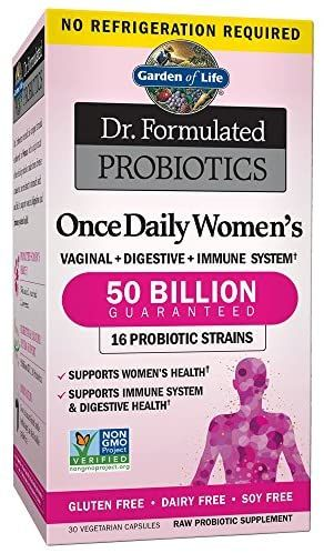 Garden Of Life Dr Formulated Probiotics For Women Once Daily Women S Probiotics 50 Billion Cfu Guaranteed 16 Strains Shelf Stable Gluten Dairy Soy Free In 2020 Probiotics Healthy Microbiome Digestive Health