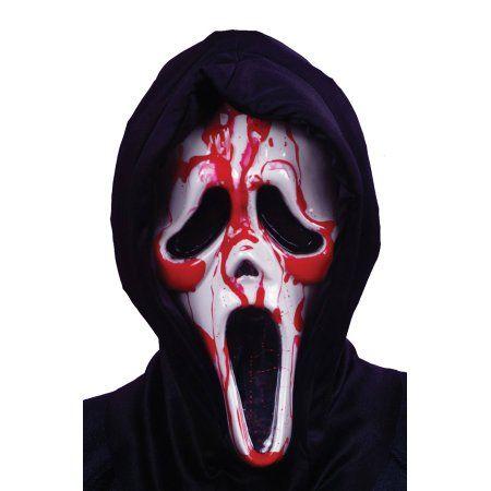EL Light Up Mask Halloween Ghostface Scream Mask