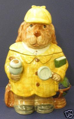 character cookie jars   Fitz & Floyd Sherlock Holmes Cookie Jar