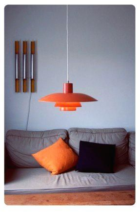 Orange Pendant Lights Kitchen Lamp 3 Danish Designer 4 Gradient