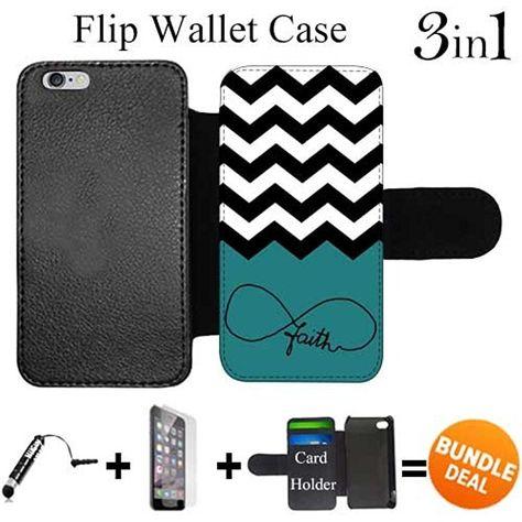huge discount 31730 6fd07 Flip Wallet Case for iPhone 6 Plus/6S Plus (Faith Religious Infinity ...