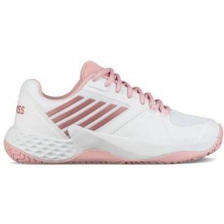 K Swiss Women's Aero Court Tennis Shoes (WhiteCoral Blush
