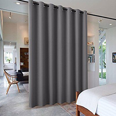 Amazon Com Ryb Home Blackout Blind Curtains Space Divider Adjustable Ceiling To Floor Blackout Curtain Drape For Hotel Dorm L Room Divider Curtain Curtains With Blinds Bedroom Blinds
