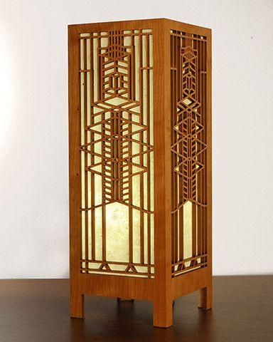 Frank Lloyd Wright Robie Art Glass Lightbox Accent Lamp Frank Lloyd Wright Stained Glass Frank Lloyd Wright