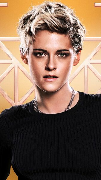 Charlies Angels 2019 Poster Cast 8k Hd Mobile Smartphone And Pc Desktop Laptop Wallpaper 7 Kristen Stewart Short Hair Charlies Angels Kristen Stewart Style