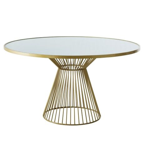 Tavoli Da Pranzo Rotondi In Vetro.Tavolo Da Pranzo Rotondo 6 Persone In Vetro Sbiancato 140 Cm Nel