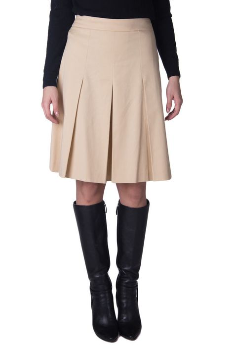 fd34e48fb1 BLUE LES COPAINS Flippy Skirt Size 42 / S Beige Pleated Made in Italy RRP  165 #fashion #clothing #shoes #accessories #womensclothing #skirts (ebay  link)