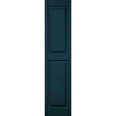 15 In X 63 In Raised Panel Vinyl Exterior Shutters Pair In 166 Midnight Blue Raised Panel Shutters Shutters Raised Panel