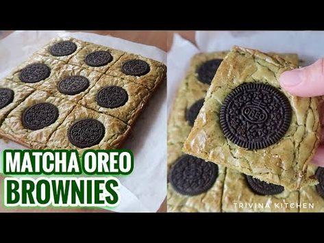 Resep Brownies Matcha Green Tea Oreo Shiny Crust