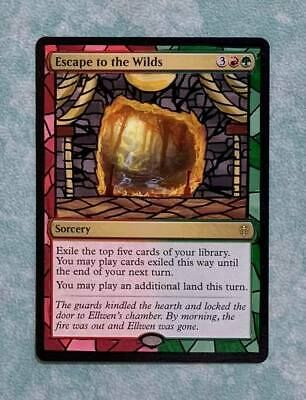 Ad Escape To The Wilds Eld Mtg Magic Hand Painted Altered Extended Full Art Your Turn