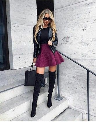 Shoes Outfit Outfit Idea Fall Outfits Summer Outfits Winter Outfits Cute Outfits Spring Outfits Date Outfit Par Fashion Thigh High Boots Outfit Fashion Outfits
