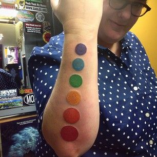 Make it abstract but colorful: | 24 Tattoo Ideas For Wearing Your Pride On Your Sleeve