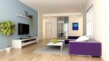 cool colors for living room.  Cool colors dominated living room 3D Model Models Pinterest