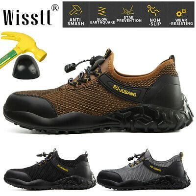 Lightweight Steel Toe Mesh Safety Shoes