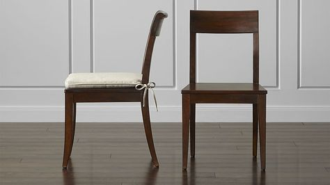 cabria honey brown wood dining chair and cushion furniture and rh pinterest com