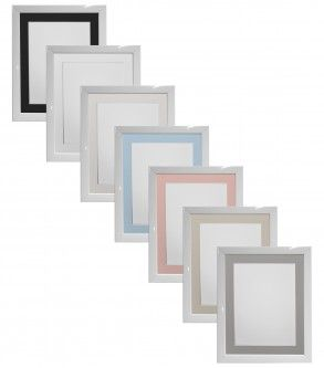 Silver Photo Picture Frames With Quality Black White /& Ivory Double Mounts H7
