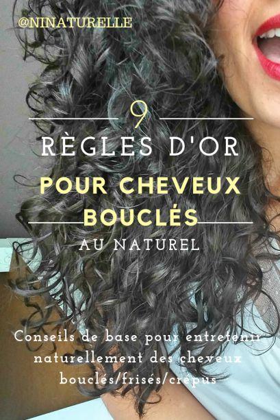 9 RÈGLES D'OR POUR CHEVEUX BOUCLÉS AU NATUREL