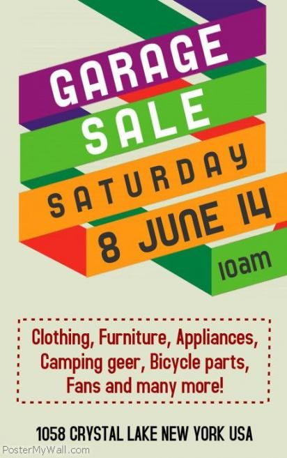 69 New Ideas For Yard Sale Flyer Template Free Yard With Images
