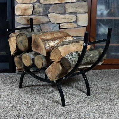 decorative indoor firewood rack outdoor fireplace wood.htm curved steel indoor outdoor log rack with cover 4  black  curved steel indoor outdoor log rack