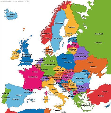 Europakarte Die Karte Von Europa Europa Schule