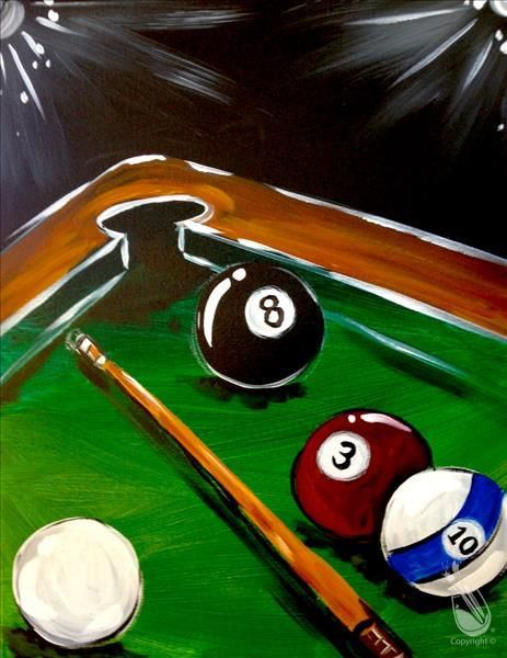 Pool Billiards Ball Art Print Home Decor Wall Art Poster C
