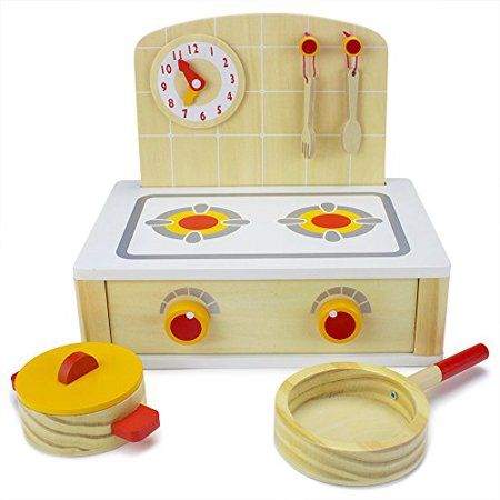 Imagination Generation Wood Eats Tabletop Cooktop Kitchenette Pretend Play Food Toy White In 2020 Play Kitchen Accessories Cooktop Table Top