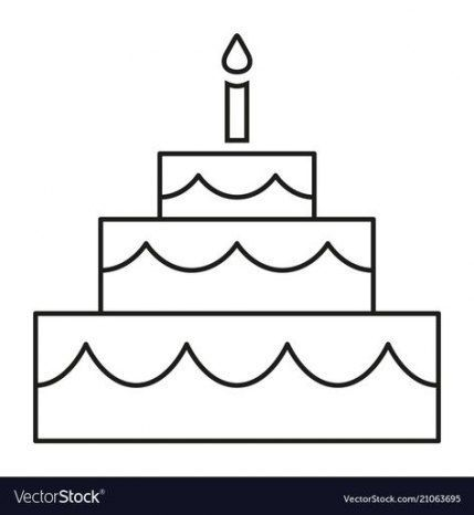 Best Birthday Cake Illustration Vector Ideas In 2020 Beste