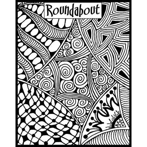 Roundabout texture stamp by Helen Breil. Unmounted stamp great for polymer claya resin clay, stamping and embossings