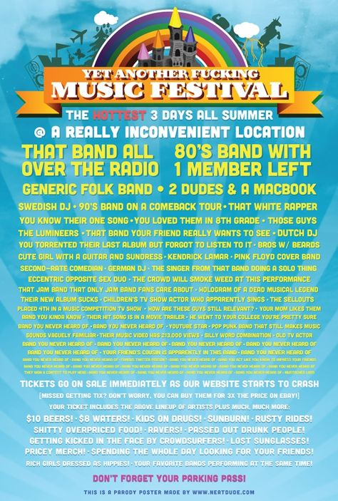 Parody Poster Captures the Special Hell of Summer Music Festivals | Adweek