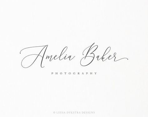 Photography Logo and Watermark Design - Premade Calligraphy