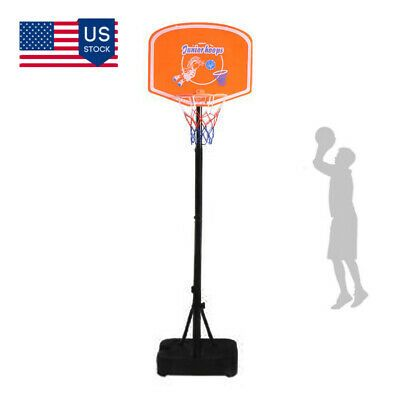 Advertisement Ebay Adjustable Basketball Hoop Goal Stand Backboard Kids Indoor Outdoor Sports Toy Adjustable Basketball Hoop Sports Toys Basketball Hoop