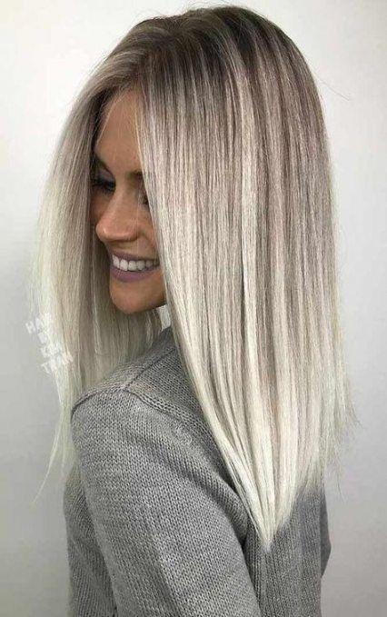 Hair Color Highlights Straight Subtle Ombre 61 Ideas Hair Styles Haircut For Thick Hair Platinum Hair Color