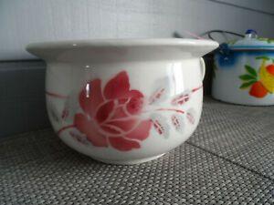 Ancien Pot De Chambre Decor Une Rose Mdl Idem Digoin Ornement Cache Pot Vintage Ebay