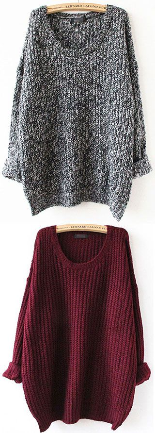 Fall in love with the Casual Pullover Sweater,which will ...