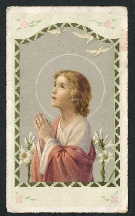 HOLY CARD ANTIQUE de Jesus Bambino santino image pieuse estampa andachtsbild - $6.00. Holy card antique de Jesus Bambino 223419541106