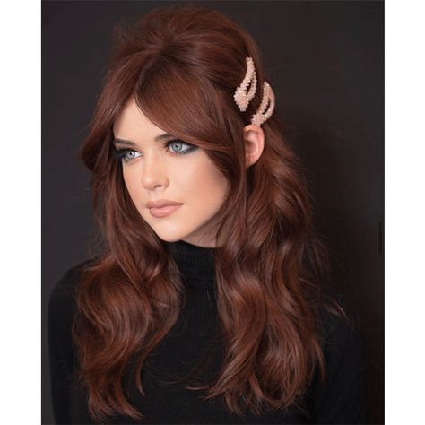 Holiday Glam Red Hair - Red Hair Inspo - Hollywood called bc their glam waves are BACK BB! Hair Color Auburn, Red Hair Color, Matrix Hair Color, Auburn Ombre, Ginger Hair Color, Auburn Balayage, Dyed Red Hair, Purple Hair, Valentine's Day Hairstyles