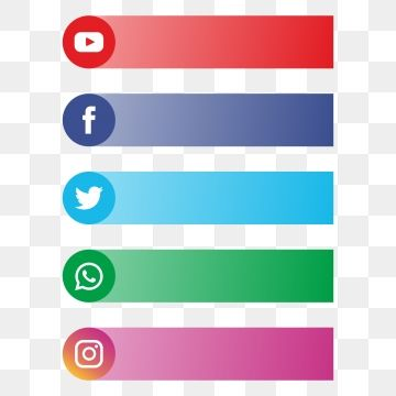 All Social Media Banner Logo For Text Logo Clipart Social Media Banner Social Media With Banner Png And Vector With Transparent Background For Free Download Social Media Banner Social Media Buttons