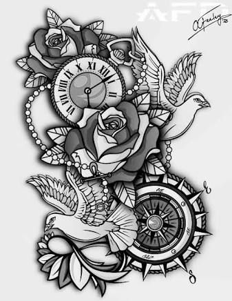 Image Result For Clock Tattoo Designs Tattoo Sleeve Designs Half Sleeve Tattoos Designs Half Sleeve Tattoo